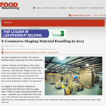 FoodManufacturing.com - E-Commerce Shaping Material Handling in 2015