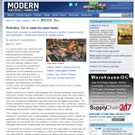 Modern Materials Handling - Robotics: On a case-by-case basis